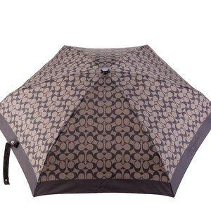 Coach Brown/Black Signature Mini Umbrella